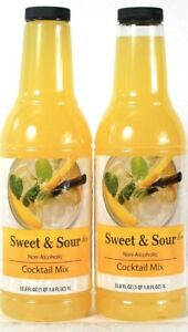 2 Bottles Sysco 33.8 Oz Sweet & Sour Tangy Citrusy Flavor Classic Cocktail Mix