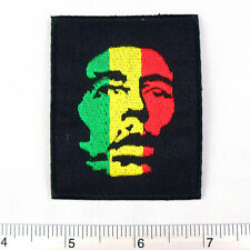 """Bob Marley embroidered iron on patches appliques 2x2.75"""""""