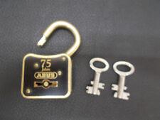Vorhangschloß Vorhängeschlos schwarz/gold ABUS mit 2 Doppelbartschlüssel