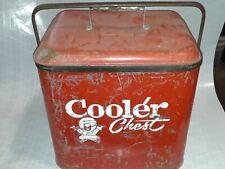 Vintage eskimo metal cooler ice chest 1950s