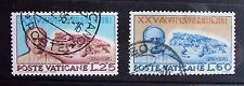 Vatican stamps (1954): full set of 2; used, hinged: 25th ann. of Lateran Treaty