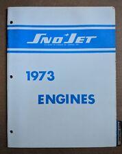 1973 SNO JET ENGINES, Y292, S292,Y338, S338, Y433, S443 SNOWMOBILE PARTS MANUAL