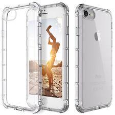 CLEAR  Crystal Shockproof Bumper Hard back Case for Apple iPhone 7