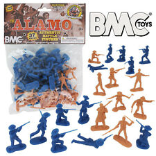 BMC THE ALAMO Plastic Army Men 37 Texan Mexican Soldier Figures 1:32 Scale 54mm