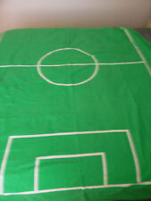 Ikea Spelplan Twin Size 55X80 Duvet Cover Soccer Field Green white Gray Squares