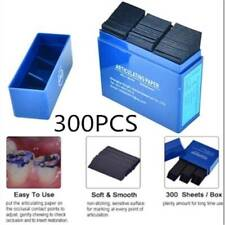 Dental Articulating Thin Paper Teeth Care Double Sided Blue Strips 300 Sheets