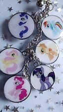 KEYRING  MY LITTLE PONY PINKY PIE RAINBOW DASH RARITY FLUTTER SHY GIFT BOX CHARM