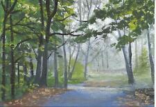 "Aceo original acrylic painting ""Morning Walk"" by J. Hutson"