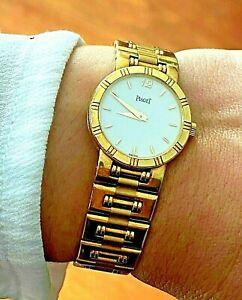 Piaget Dancer Gold 18Kt (56.5 Gr.) Ladies Quartz Watch White Dial Ref. 80563 K81