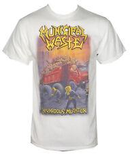 Authentic MUNICIPAL WASTE Band Hazardous Mutation White T-Shirt S-2XL NEW