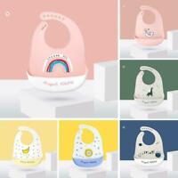 Baby Bibs Cute Dishwasher safe Comfortable Feeding Plastic Food Catcher