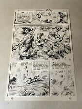 ANTHRO #5 original art BATTLE RAGING RIVER ON RAFT, 1969, HOWIE POST, GREAT PAGE
