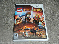 LEGO THE LORD OF THE RINGS NINTENDO WII VIDEO GAME DISC WB GAMES