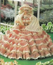 Peach Fashion Doll Dress Digest Size Crochet Pattern Instructions