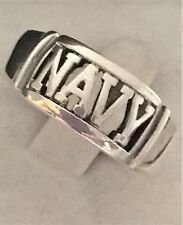 STERLING SILVER 925 MILITARY NAVY US BAND  RING SIZE 10 NEW! MEN'S Free Shipping