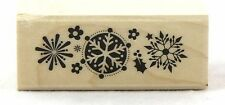 Snowflake Trio Wood Mounted Rubber Stamp Hero Arts NEW winter christmas holiday