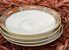 """Wedgwood Chippendale Saucer Set of 4 Bone China  Discontinued England 4.5"""""""