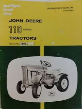 John Deere 110 Round Fender Lawn Garden Tractor Owners & Parts Manual 1964 3551-