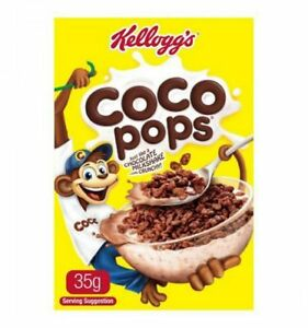 KELLOGGS COCO POPS INDIVIDUAL PORTIONS 35GM x 30 PACKS - FREE POST