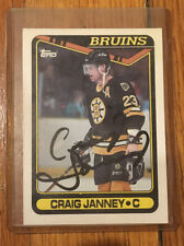 🏒 SIGNED 1990-91 Topps Hockey Craig Janney Boston Bruins #212 IP Autograph Card