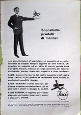 ✅1958 ADV Pubblicità FACIS Gardena Bernina sopratutto prodotti di marca