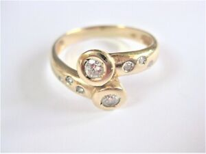 Ring Gold 585 with Diamonds, 4,63 G