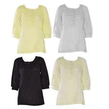 Waist Length Cotton Floral T-Shirts for Women