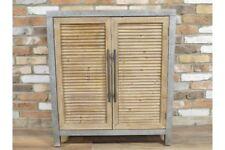 Retro Industrial Louvered Door Cabinet / Sideboard Metal and Reclaimed Wood