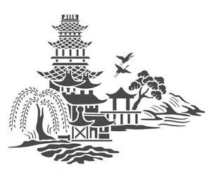 high detail airbrush stencil chinese 2 scene FREE UK  POSTAGE