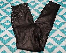 Harley Davidson Women's Leather Motorcycle Biker Riding Pants Size 34/6W