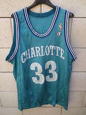 Maillot basket vintage CHARLOTTES HORNETS shirt NBA MOURNING n°33 Champion USA