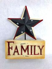America - Family - Liberty Poly Resin Patriotic Star Block Set