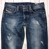 Mens DIESEL Larkee-T Jeans W30 L32 Blue Regular Tapered Wash 008B9