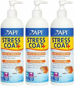 3 Pack - API Stress Coat Fish and Tap Water Conditioner, 16-Ounce Each