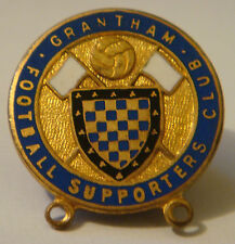 GRANTHAM FC Vintage 1940s 50s SUPPORTERS CLUB Badge Brooch pin Gilt 26mm x 26mm