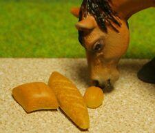 6x Brot Brötchen Miniatur Futter Zubehör passt zu Schleich Pferd Kaninchen