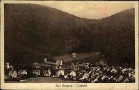 BAD HARZBURG Postkarte mit Stempel von 1919 Villen am Berg bzw. im Crodotal AK