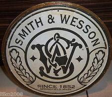 "SMITH & WESSON, SINCE 1852, ROUND 12"" METAL WALL SIGN, GUNS, COWBOY, SHOOTING"