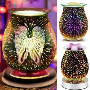 Aroma Electric Wax Melt Burner Firework Glass Lamp Night Light Diffuser Warmer