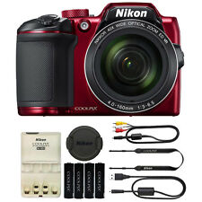Nikon COOLPIX B500 16 Megapixel Point and Shoot Compact Digital Camera  Red