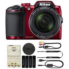 Nikon COOLPIX B500 16 Megapixel Point and Shoot Compact Digital Camera  Red