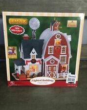 Lemax Christmas Village Chuck's Farm House Lighted Building #65404 Rare New !