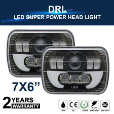 "7X6 5X7"" 120W H6054 HALO DRL SEALED BEAM LED HEADLIGHTS FOR TOYOTA PICKUP TRUCK"