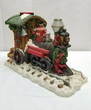 Vintage Christmas June McKenna Santa Claus 1993 Polar Express Train Engine Car