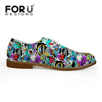 Mens Fashion Graffiti Dress Shoes Smart Loafers Men Party Office Oxford Sneakers