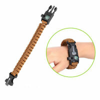 Military Paracord Survival Bracelet Sports Swimming Weaving Wrist Watch Outdoor