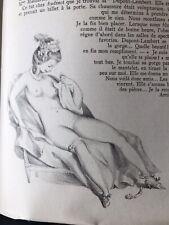 Monsieur Nicolas - Retif de la Bretonne - litho Suzanne Ballivet  1956 Curiosa