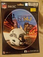 "NFL SUPERBOWL XLVIII  WINDOW DECAL VINYL DIE-CUT 6"" ROUND NEW !"