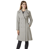 Jessica Simpson Womens Double Breasted Reefer Coat Grey L #NK7TP-896