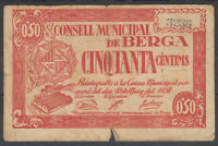 Banknotes Local - Berga 50 Cents Year 1937 - Without Series